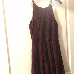 Dresses & Skirts - Burgundy Lace Dress